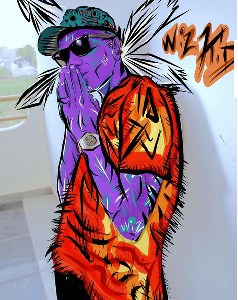 chris brown art work for wizkid