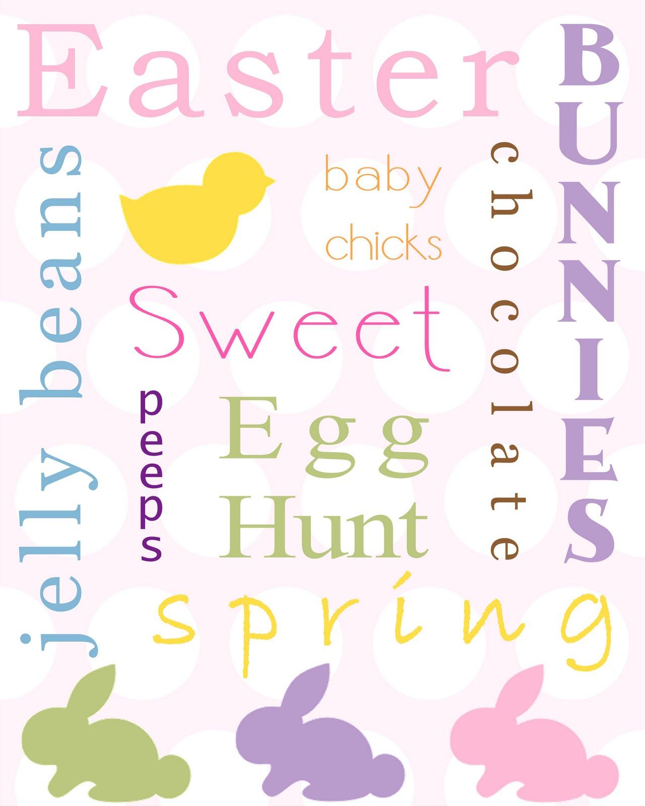 Easter Things: Sweet And Simple Things: Free Easter Printables