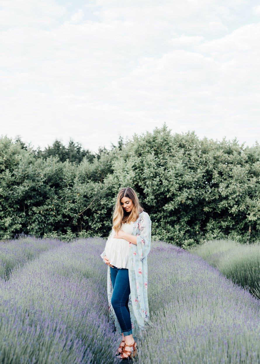Lavender Farm Maternity Session by Bonney Lake Photographers Something Minted and More