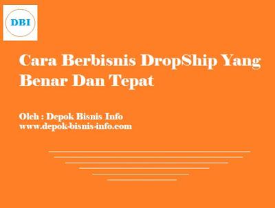Bisnis Info, Dropship
