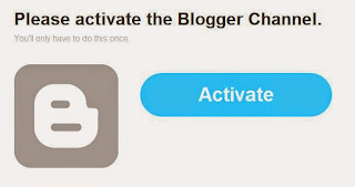 Activate your Blogger account
