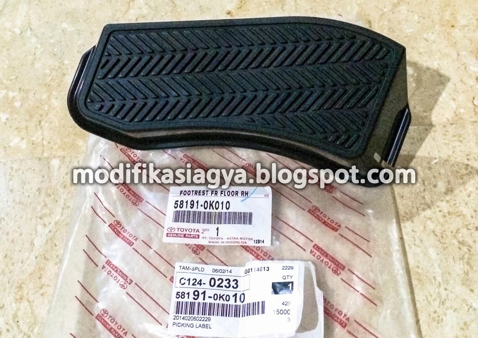 new agya trd matic toyota yaris white modifikasi penambahan sport pedal dan foot