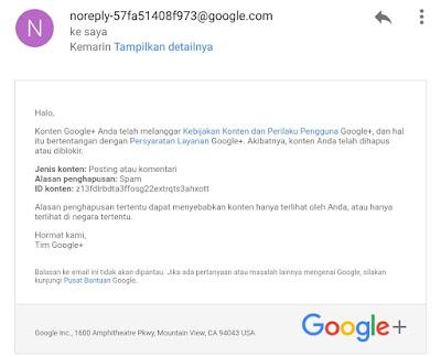 Google Plus Sudah seperti FB Tidak Bisa Spam Atau Promosi lagi