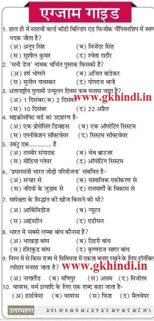 Gk in Hindi PDF Download | General Knowledge in Hindi PDF Samanya ...