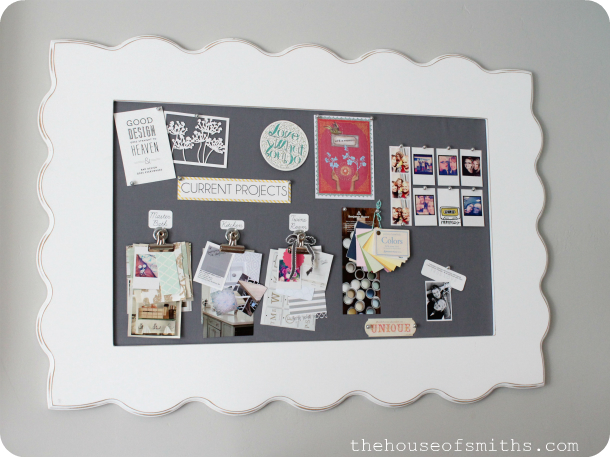 Diy Framed Fabric Pin Board A Bloggers Office Makeover