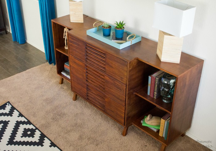 This Spot Normally Sports A Mid Century Dresser But I Really Like How The Bookshelves Display All My Pretties