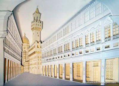 Arte papel y edificio