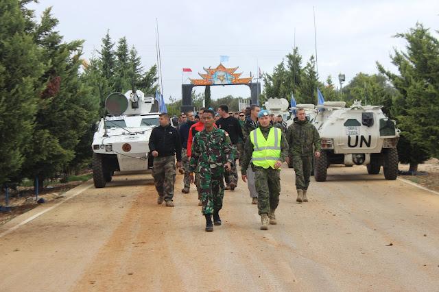 Pasukan Garuda Indobatt Latihan Anti Huru Hara Bersama Tentara Perancis