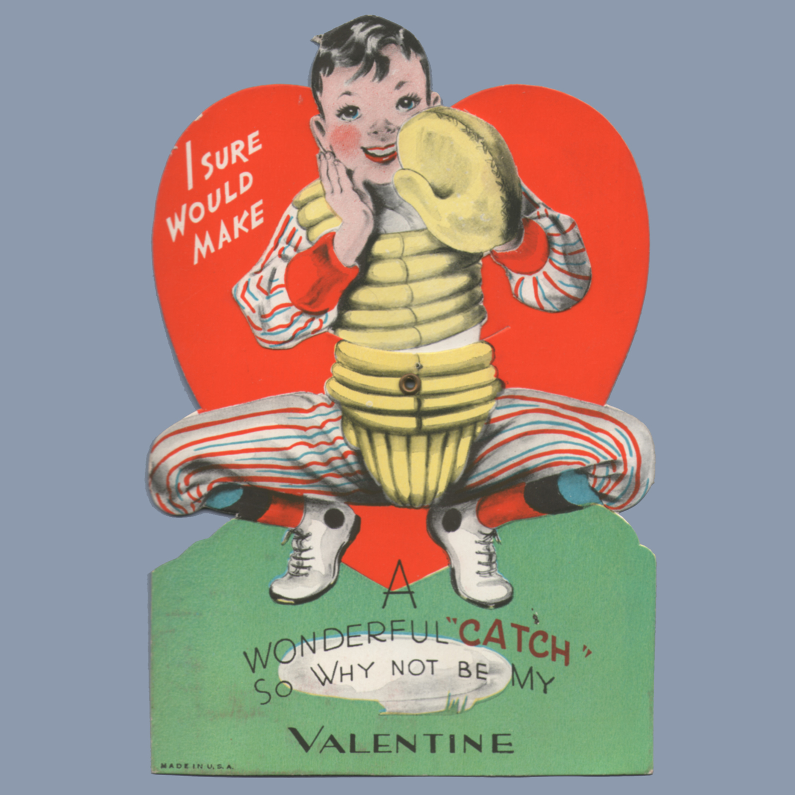 Vintage Valentine Museum Sports Valentine Youre A Hit