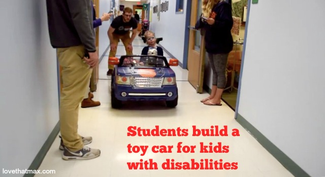 a little girl with disabilities has been having the joy ride of her life since syracuse university engineering students designed a toy car for preschoolers