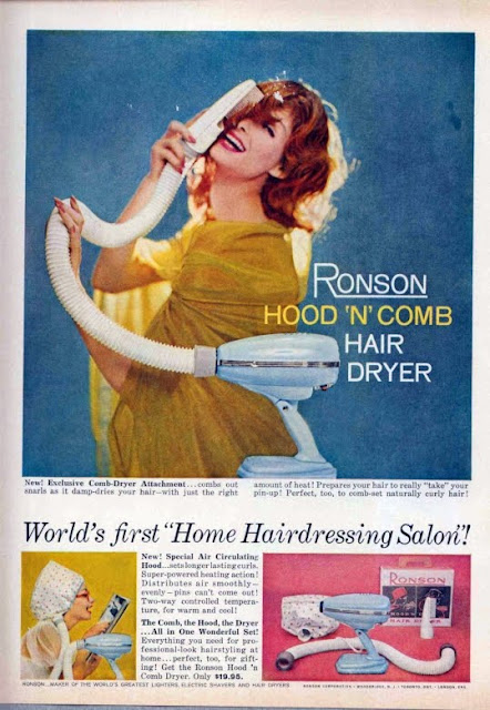 Ronson Hood 'N' Comb Hair Dryer