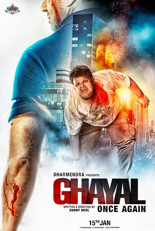 Poster Of Ghayal Once Again 2016 Hindi 700MB DVDScr x264 Free Download Watch Online