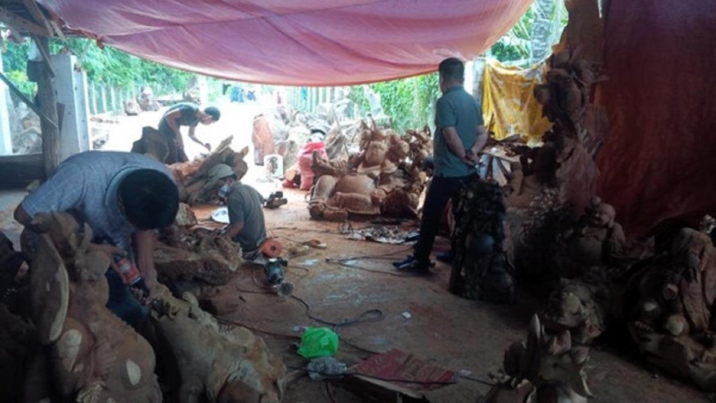 Bộ Công an kiểm tra các xưởng gỗ tại Gia Lai