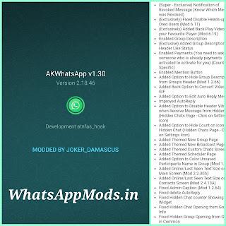 AKWhatsApp v1.30 WhatsAppMods.in