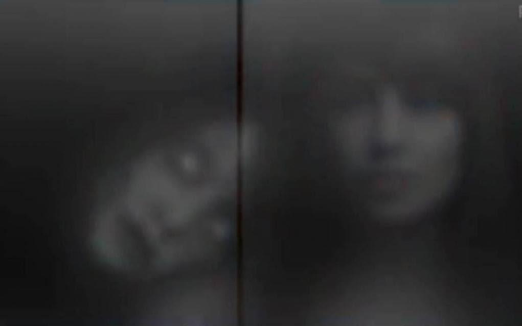 Bipasha Basu as Sanjana with her ghost sister Anjana in a horror lift scene of Hindi movie Alone