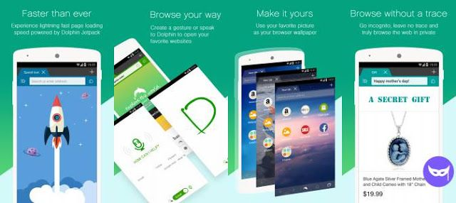 Dolphin Browser is a fast and easy-to-use web browser for Android phones. It's packed with useful features to help you navigate the web more efficiently.