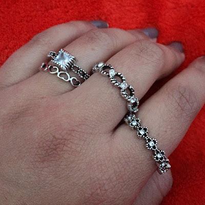 Kit de anéis inspirados Pandora