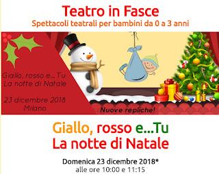 spettacolo teatrale per bambini a Natale. Milano