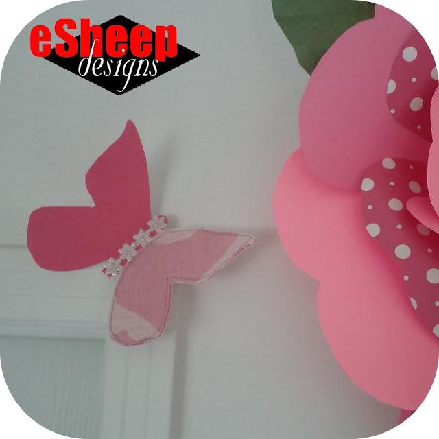 Fabric butterflies by eSheep Designs