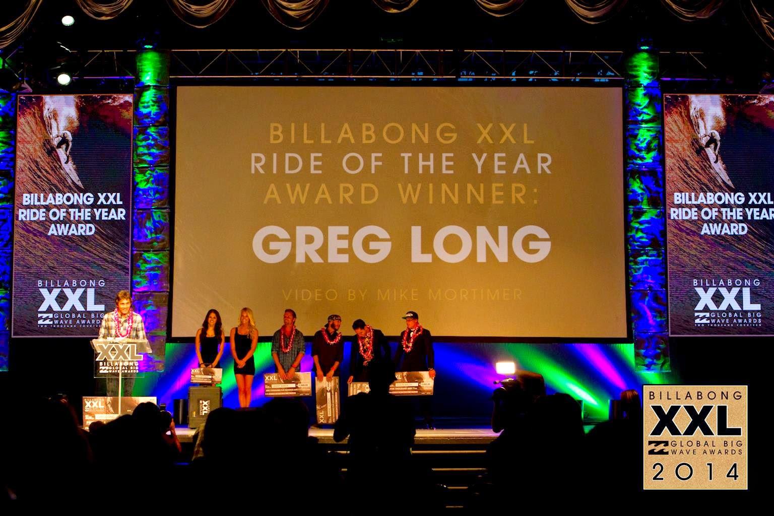 greg long billabong xxl awards
