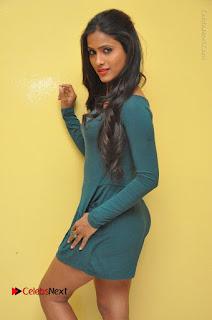 Telugu Actress Prasanthi Stills in Green Short Dress at Swachh Hyderabad Cricket Press Meet  0056.JPG
