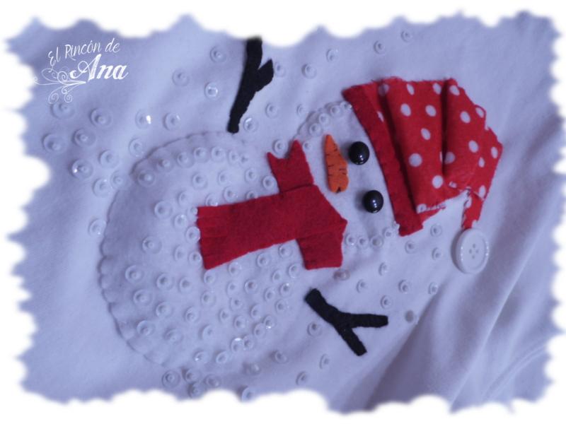 Casita dejengibre y Aplique de muñeco de nieve