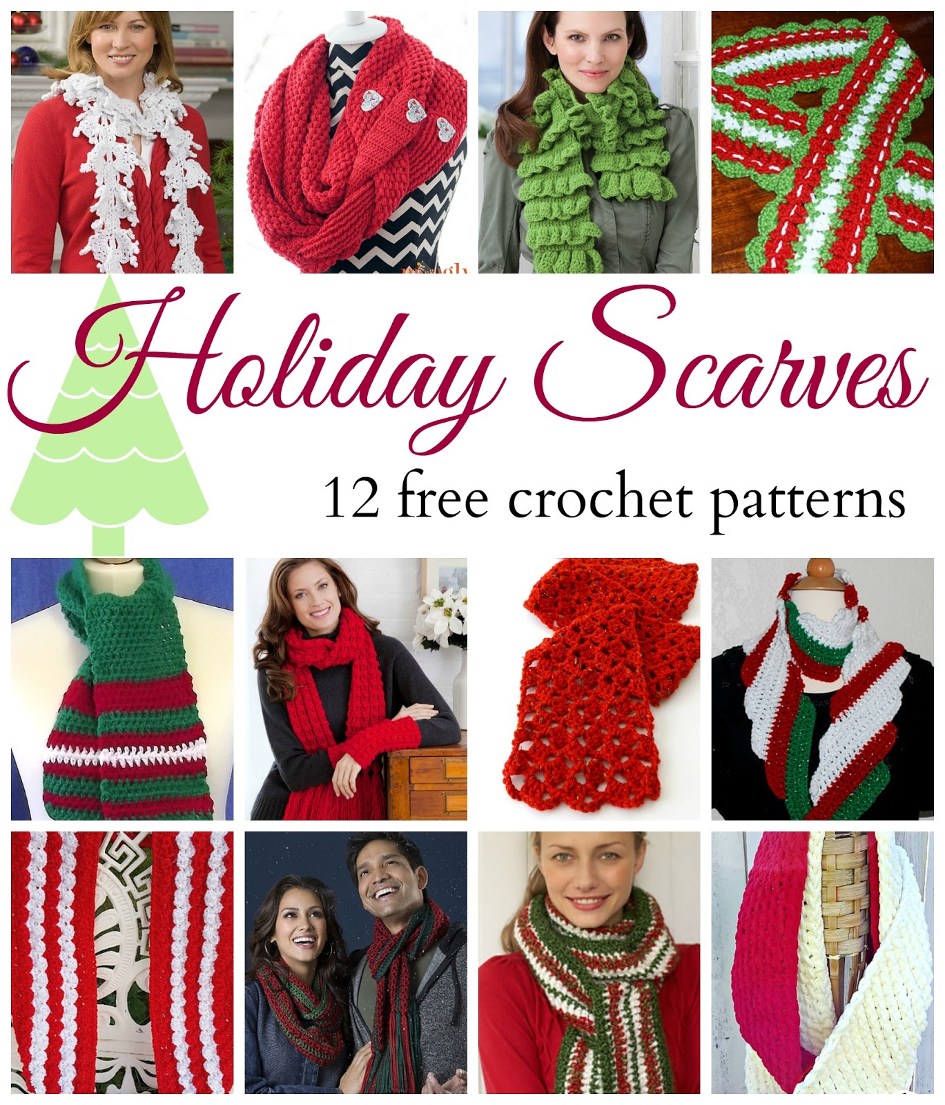 Fiber Flux: Holiday Scarves! 12 Beautiful & Free Crochet Patterns...