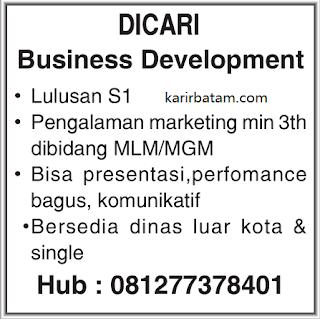 Lowongan Kerja Business Development Batam