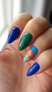 [Recenzja + Moje Paznokcie] Manicure z rybką, paint gele canni, płytka do stempli Major Dijit, monasi :)