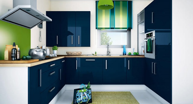 cocinas de color azul cocina y reposteros decoraci n