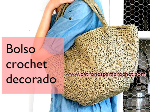Bolso amplio tejido con ganchillo / Patrones | Patrones para Crochet