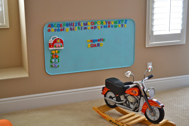 DIY magnetic board for kids