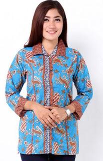 Contoh Batik Lengan Panjang Wanita Muda