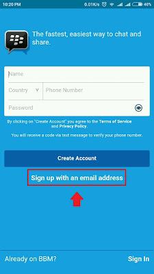Buat ID BBM | Cara Buat Akun BBM ID Baru di Android Dengan Email Gmail