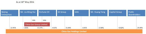 中國燃氣 384 2016年5月 股權
