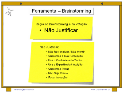 Regras do Brainstorming na Metodologia IDM Innovation Decision Mapping