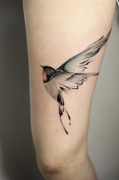 Tatuaje De Aves Volando En El Brazo Sfb