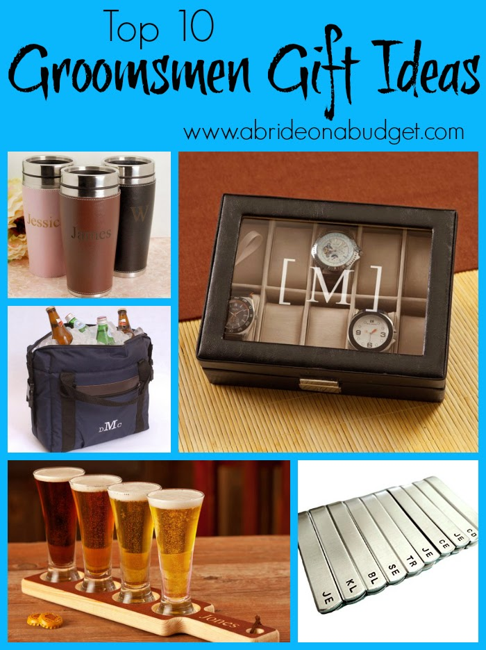 I really LOVE the personalized beer tasting kit www.abrideonabudget.com included in the Top Ten Groomsmen Gift Ideas post. What about you