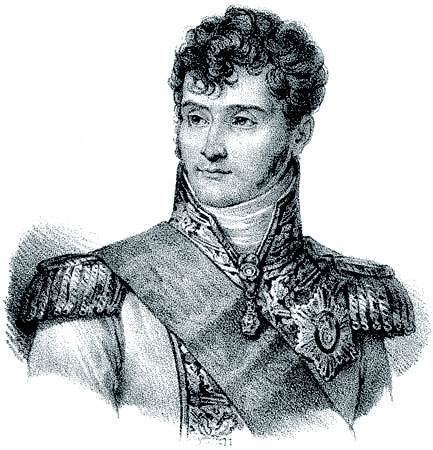 Jérôme Bonaparte, litografía, c. 1820.