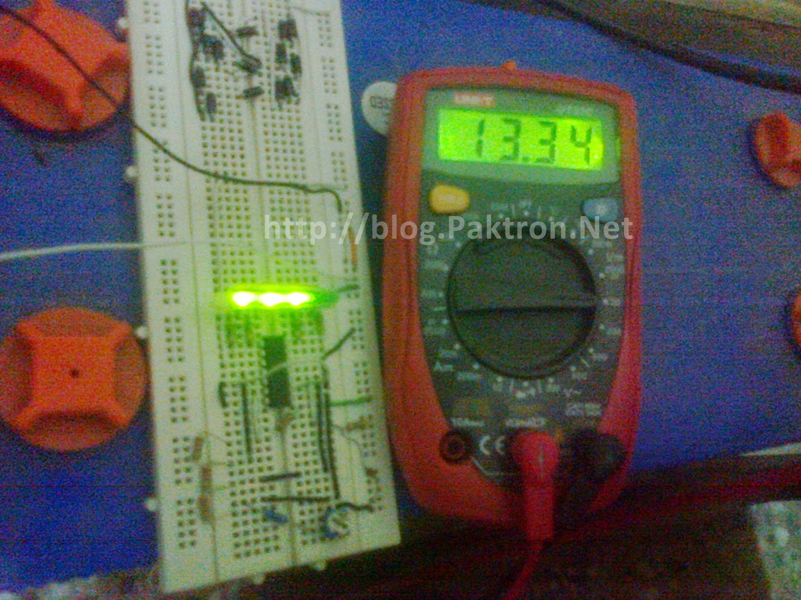 battery level indicator 2 on circuit board