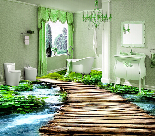 3D epoxy floors for bathroom flooring