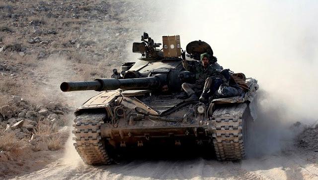 Συριακό Τ-72 με σύστημα αυτοπροστασίας Sarab-1