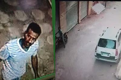 حرامي يحاول سرقة موتوسيكل في نهار رمضان بالشرقية