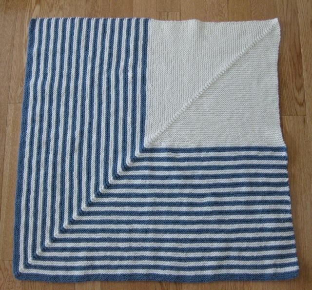 Wyoming Breezes: Mitered Square Baby Blanket