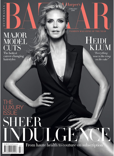 Actress, Model, @ Heidi Klum - Harper's Bazaar Australia, June/July 2016