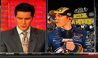 NASCAR Champion Drinking a beer on Sportscenter - Brad Keselowski