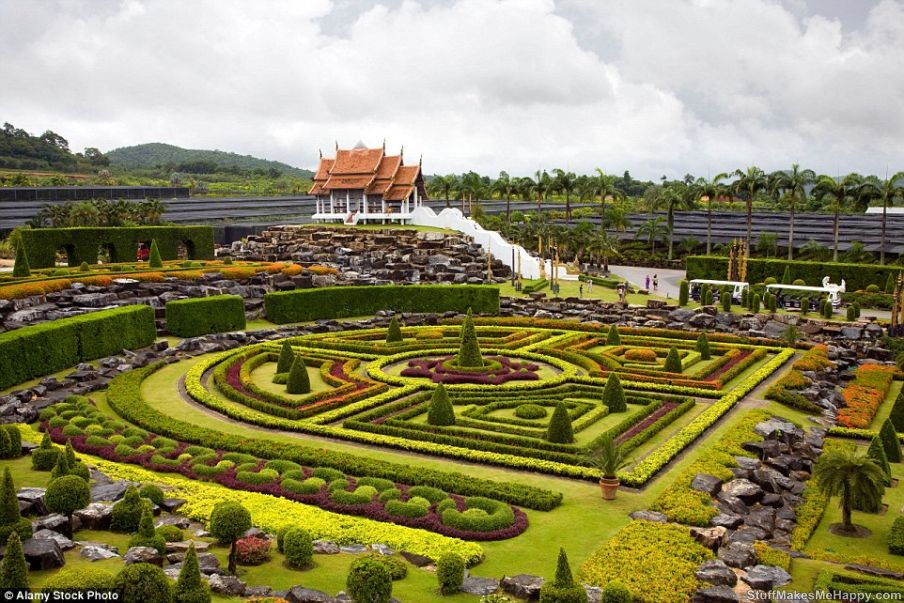 4. Nong Nooch Tropical Botanical Garden in Thailand.