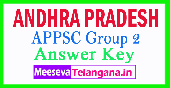 APPSC Group 2 Answer Key 2018