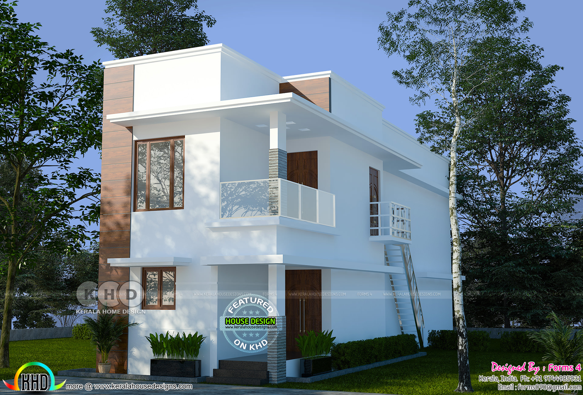 Contemporary Simple Budget Oriented Design 22 Lakhs Kerala