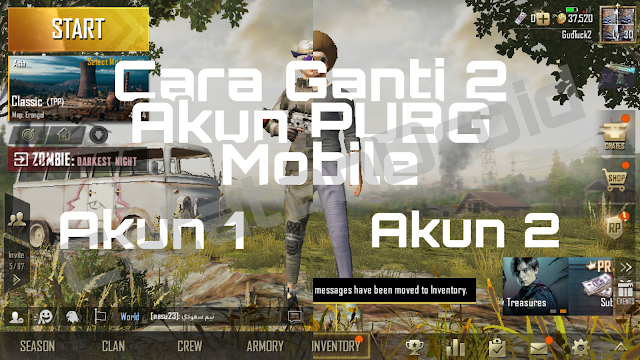 Cara Ganti Akun & Main 2 Akun Game PUBG Mobile